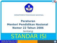 Permendiknas No.22 Tahun 2006 tentang SI.ppt