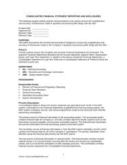 Consolidated Financial Reporting Policy.doc
