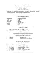 CV Of Muhammad Rashid(2).doc