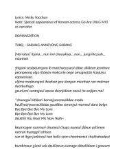 TVXQ  - SARANG ANNEYONG SARANG.doc