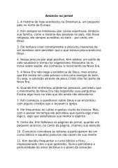 Informativo Mundial das Missões - 03 07 10 - Texto.doc