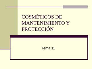 cosméticos mantenimiento y protección.ppt