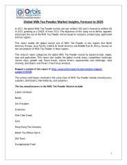 Global Milk Tea Powder Market Insights, Forecast to 2025.pdf