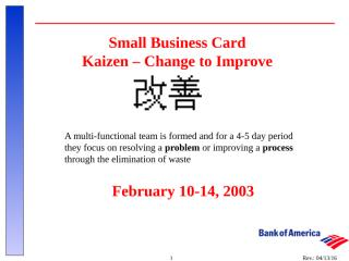 Small Business Kaizen Training 2_10-14_03.ppt