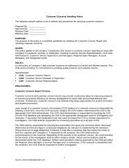 Customer Concerns Handling Policy.doc